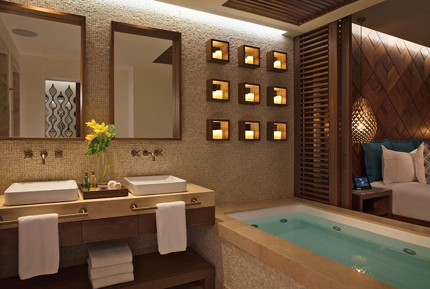 Secrets Maroma Beach Riviera Cancun - Secrets Maroma Beach Riviera Cancun - Bathroom for all junios suites rooms