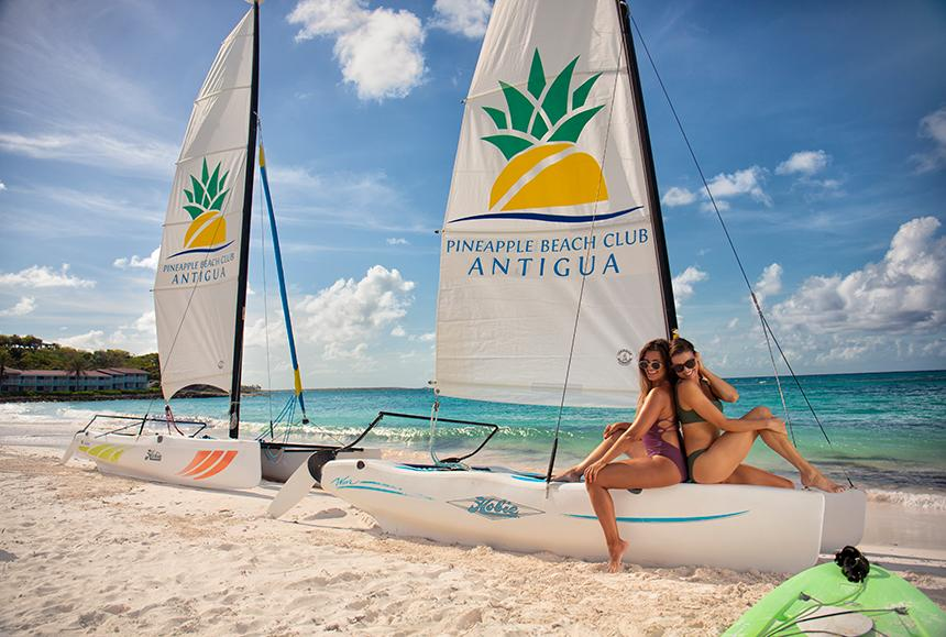 Pineapple Beach Club - Pineapple Beach Club Antigua - Hobie Cat Sailing