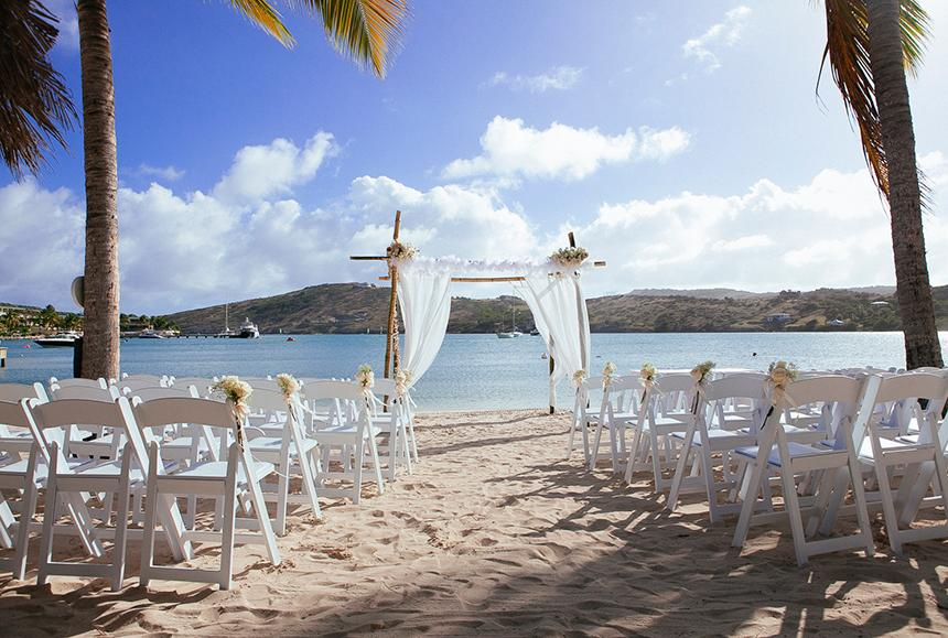 St James Club & Villas - St James Club & Villas - Mamora Bay Beach Wedding