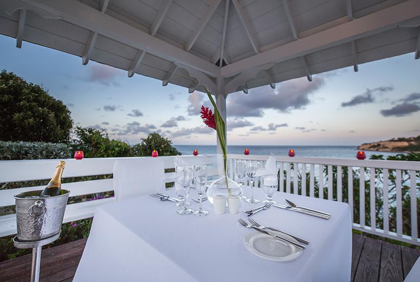 Pineapple Beach Club - Pineapple Beach Club Antigua - Romantic Gazebo Dinner